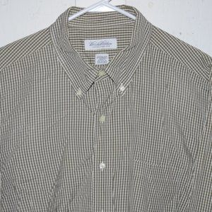Brooks brothers dress mens shirt size 17 1/2 J897
